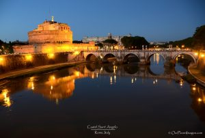 Castel Sant' Angelo dusk with reflection