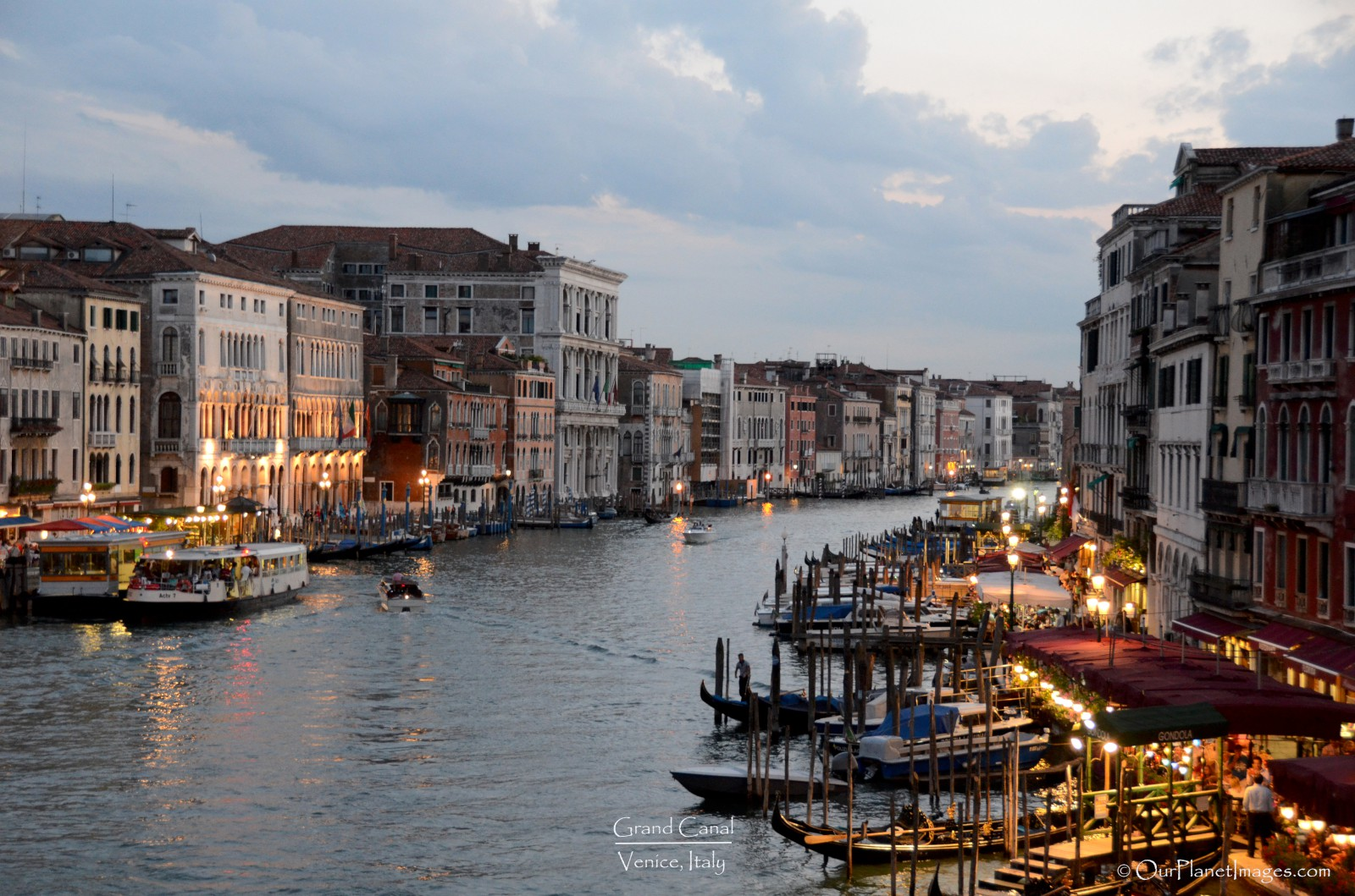 Grand Canal at Dusk in Venice Italy