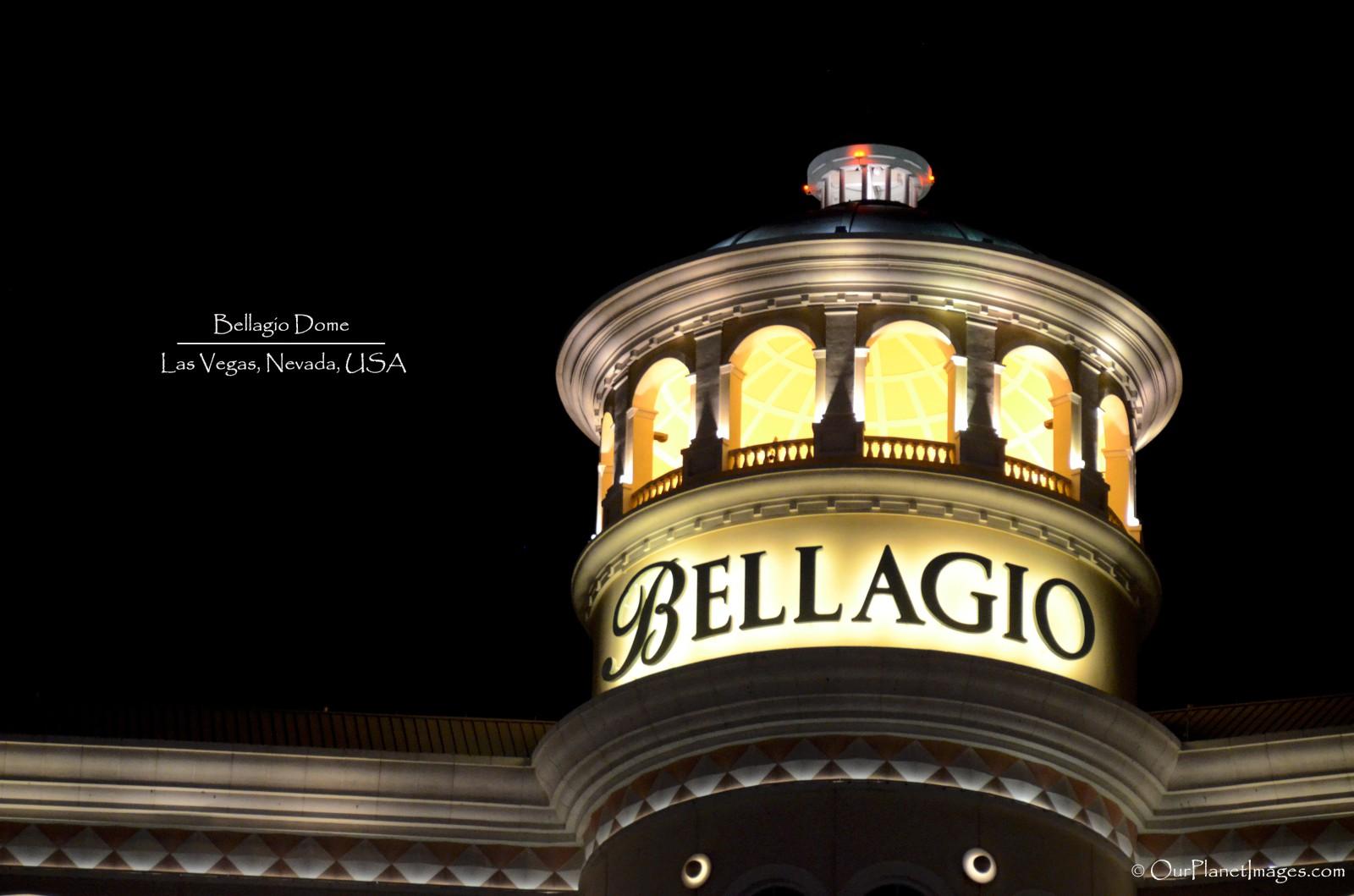 Bellagio dome at night