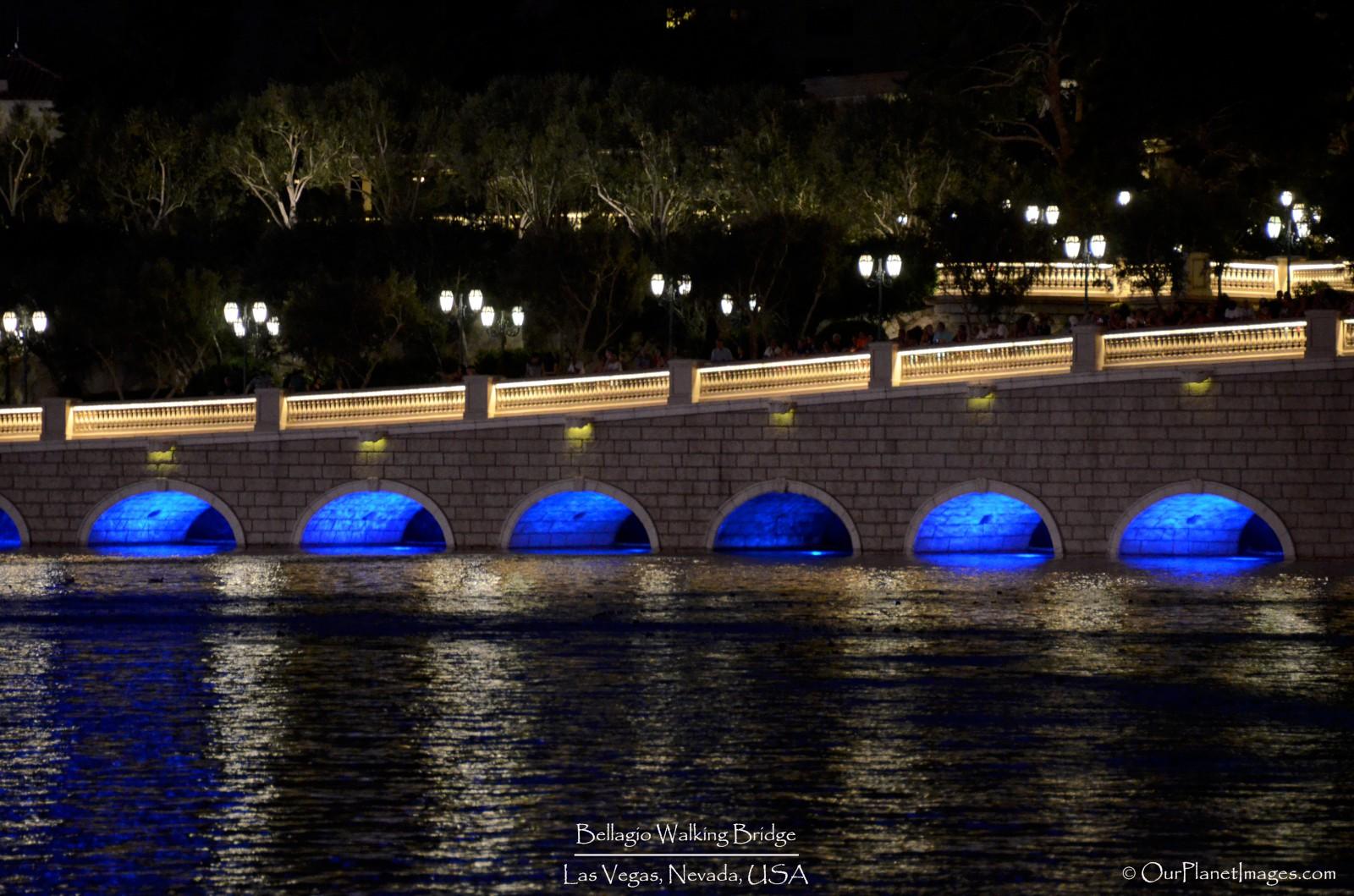 Bellagio walking bridge night