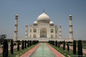 Taj Mahal with reflecting pool